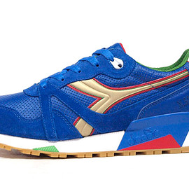 "diadora - N.9000 AZZURRI ""made in ITALY"" ""Packer Shoes"""
