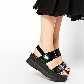 asos - Image 1 of ASOS HOLLA Flatform Sandals
