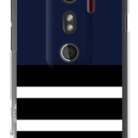 SECOND SKIN - Plain border ネイビー (クリア) design by ROTM / for HTC EVO 3D ISW12HT/au