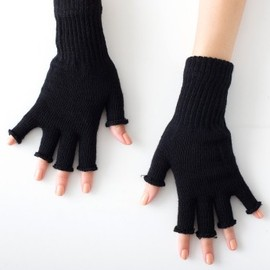 American Apparel - Unisex Wool Blend Fingerless Gloves