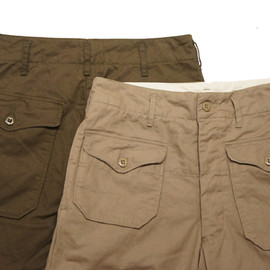 Engineered Garments - Desert Pant Olive,Khaki British Twill