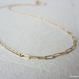fordwych jewellery - 14kgfネックレス【dearie】chain