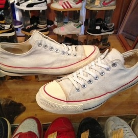 """converse - 「<used>70's converse CHUCK TAYLOR OX white""""made in USA"""" size:US10(28.5cm) 19800yen」完売"""