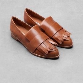 & Other Stories - Fringe Leather Loafers