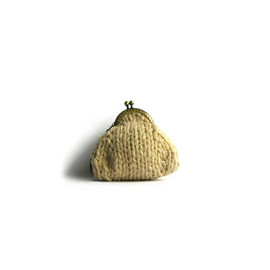 knitBranda - Image of Retro Coin Purse Knitted in Cotton Yarn