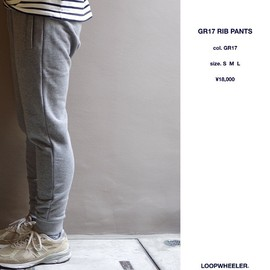 LOOPWHEELER - GR17 RIB PANTS