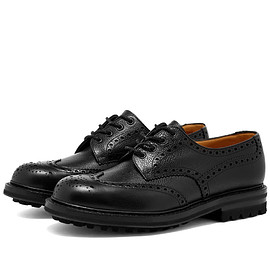 Church's - MCPHERSON COMMANDO SOLE BROGUE - Black Grain -