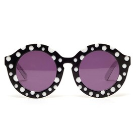 HOUSE OF HOLLAND - 'Dot' Round Acetate Sunglasses
