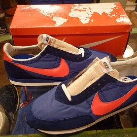 "NIKE - 「<deadstock>70's NIKE WAFFLE 2 navy/red""made in USA"" W/BOX size:US12/h 19800yen」完売"