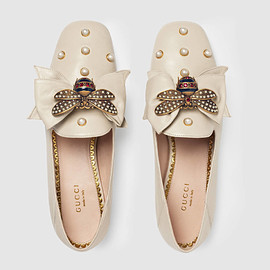 GUCCI - Gucci Leather ballet flat with bow