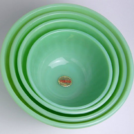 Fire King - Jadeite Swil Mixing Bowls set of 4