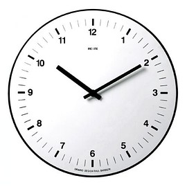 レキサイト - Rexite Orario Wall Clock - White