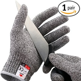 NoCry - Cut Resistant Gloves - High Performance Level 5 Protection, Food Grade