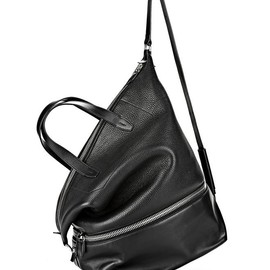ALEXANDER WANG - EXPLORER TOTE IN BLACK WITH RHODIUM