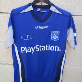 PlayStation - VINTAGE-Maillot-AUXERRE-AJA-UHLSPORT-Playstation-football-shirt-162-168