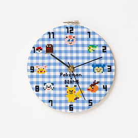 大図まこと - POKEMON × BEAMS × THE MINT HOUSE X-stitch clock