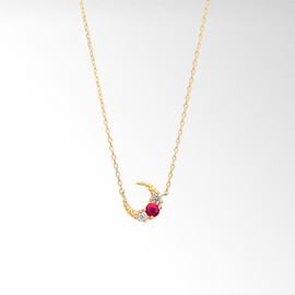 STAR JEWERY - RUBY MOON NECKLACE ¥41,040(税込)