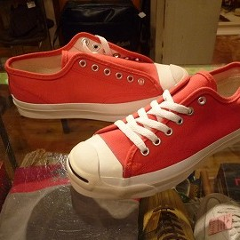 "converse - 「<deadstock>90's converse JACK PURCELL OX red""made in USA"" size:US5/h(24cm) 4800yen」完売"