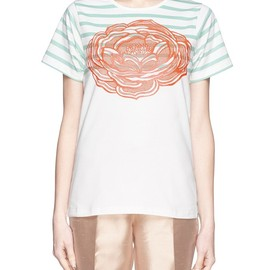 STELLA McCARTNEY - Rose appliqué stretch jersey T-shirt