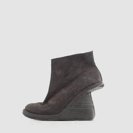 GUIDI - stag reverse wedge-sole booty