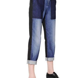STELLA McCARTNEY - FW2014 TWO TONE STRETCH COTTON DENIM JEANS