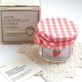 "AVON - 1980's AVON ""COUNTRY JAM STRAWBERRY"" Vintage Candle 【箱付きDEAD-STOCK♡】"