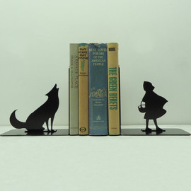 etsy - Big Bad Wolf Bookends - Free USA Shipping