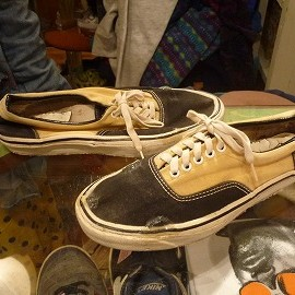 "vans - 「<used>70s vans Style95 black/yellow""made in USA"" size:US9/h(27.5cm) 3800yen」完売"