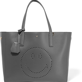 ANYA HINDMARCH - Ebury Smiley perforated leather tote