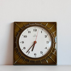Vintage Kitchen Clock, Ceramic Electronic Wall Clock,