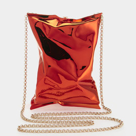 ANYA HINDMARCH - Crisp Packet clutch -Metal in Orange