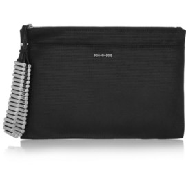 McQ, Alexander McQueen - Teach textured-leather clutch