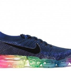 NIKE, air vapormax - Femme nike sneakers air vapormax flyknit be true deep royal bleu/ blanche concord