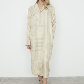 TOTEME - Anet silk dress ivory monogram