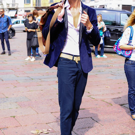 street - Street Style at Milan Fashion Week Spring/Summer 2015