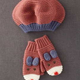 mini borden - Fun Hat & Mittens Set