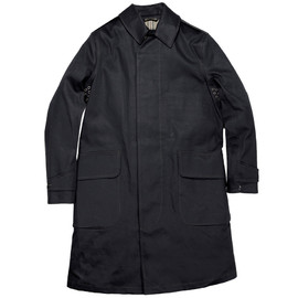RRL - MOTORCYCLIST RUBBERISED COTTON COAT NAVY