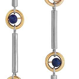 URiBE - Gae gold and rhodium-plated, lapis and quartz earrings