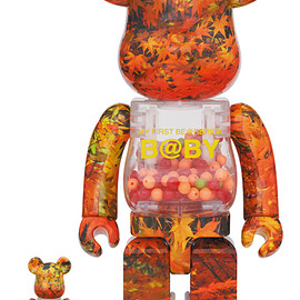 MEDICOM TOY - MY FIRST BE@RBRICK B@BY AUTUMN LEAVES Ver.100% & 400%