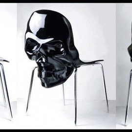 skull furniture designs - black-skull-chair