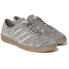 Adidas Originals - Hamburg Faux Leather-Trimmed Suede Sneakers