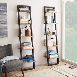 west elm - Ladder Bookshelf - Narrow (Sand/Stone)