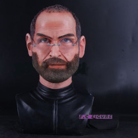 Steve Paul Jobs Head Statue  Father of iPHONE 4 Pre-painted RESIN  FIGURE