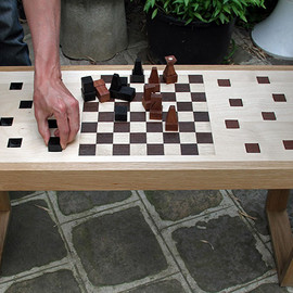 A Stylish Bench and Chess Set In One