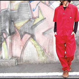 Dickies - Short Sleeve COVERALLS (33999) Red