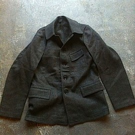 France / 1910s-30s wool work jacket,dead stock