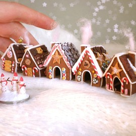 Tiny Gingerbread Village
