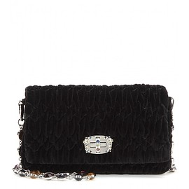 miu miu - Embellished velvet shoulder bag