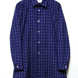 DIGAWEL - LONG SHIRT (WINDOWPANE) , 2013 S/S