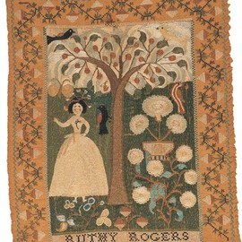 Ruthy Rogers, c. 1789, Marblehead, MA. From the collections of the American Folk Art Museum.